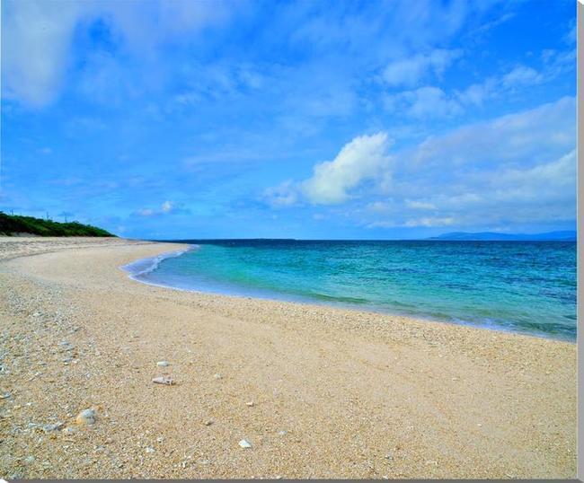 風景写真パネル 沖縄黒島の海 西の浜 72.7×60.6cm oki-003-f20 インテリア ポスターとは違う,リビング,玄関にそのまま飾れる額がいらない,壁掛け,壁飾り。絵画 アート,アートパネル,癒やしの装飾をお祝い,プレゼント,ギフトにも。