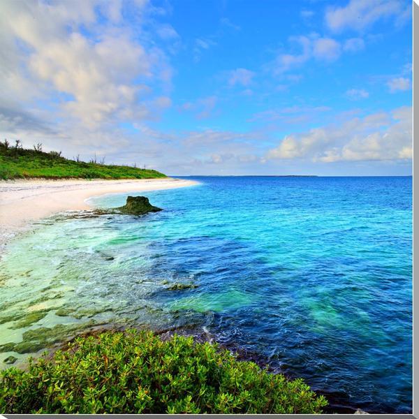 風景写真パネル 沖縄黒島の海 西の浜 72.7×72.7cm oki-007-s20 インテリア ポスターとは違う,リビング,玄関にそのまま飾れる額がいらない,壁掛け,壁飾り。絵画 アート,アートパネル,癒やしの装飾をお祝い,プレゼント,ギフトにも。