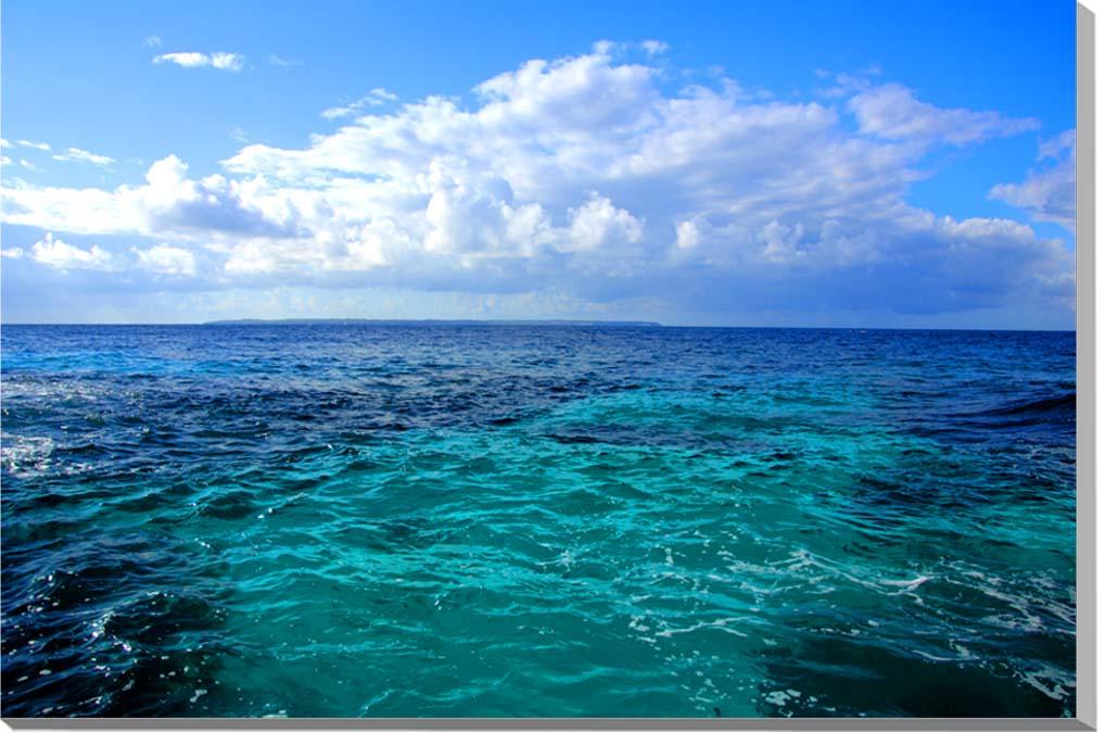 この一枚で 旅気分を 南の島の雰囲気を味わってください 風景写真ポスター 沖縄 北大東島の海04 SALE psdaito-7 人気の定番 ウォールデコ 模様替え インテリア アート 雰囲気作り グラフィック
