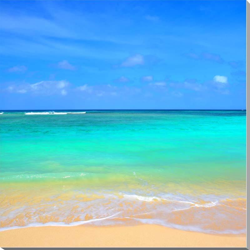 風景写真パネル 沖縄波照間島の海 ニシ浜 91×91cm htr-039-s30 インテリア ポスターとは違う,リビング,玄関にそのまま飾れる額がいらない,壁掛け,壁飾り。絵画 アート,アートパネル,癒やしの装飾をお祝い,プレゼント,ギフトにも。