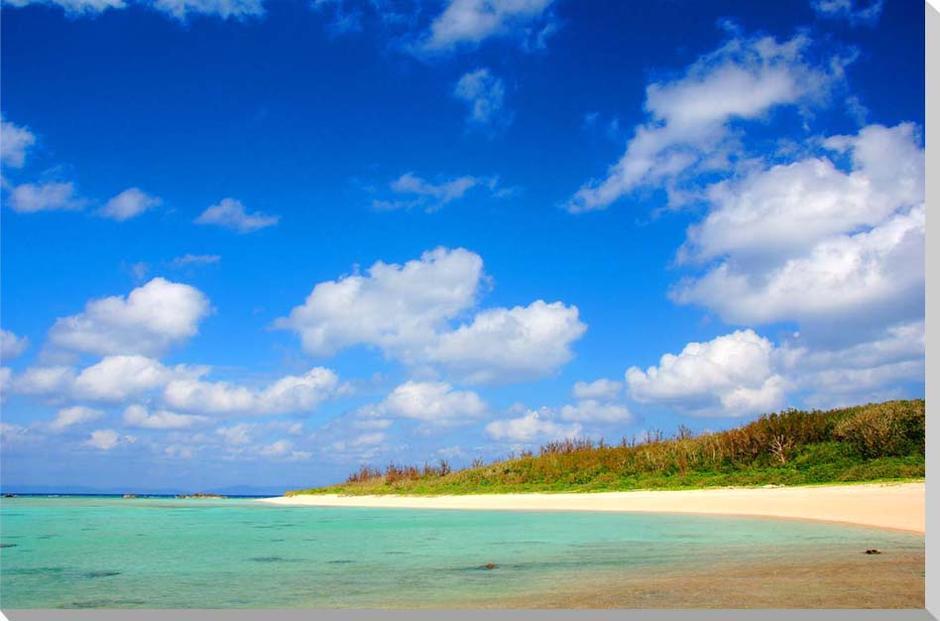 沖縄波照間島の海5 風景写真パネル 80.3×53cm HT-017-M25 【楽ギフ_名入れ】