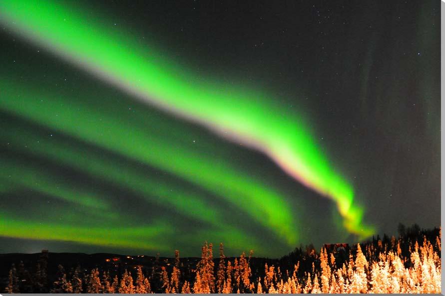 オーロラ アラスカ 風景写真パネル 60.6×41cm AUR-10-M12