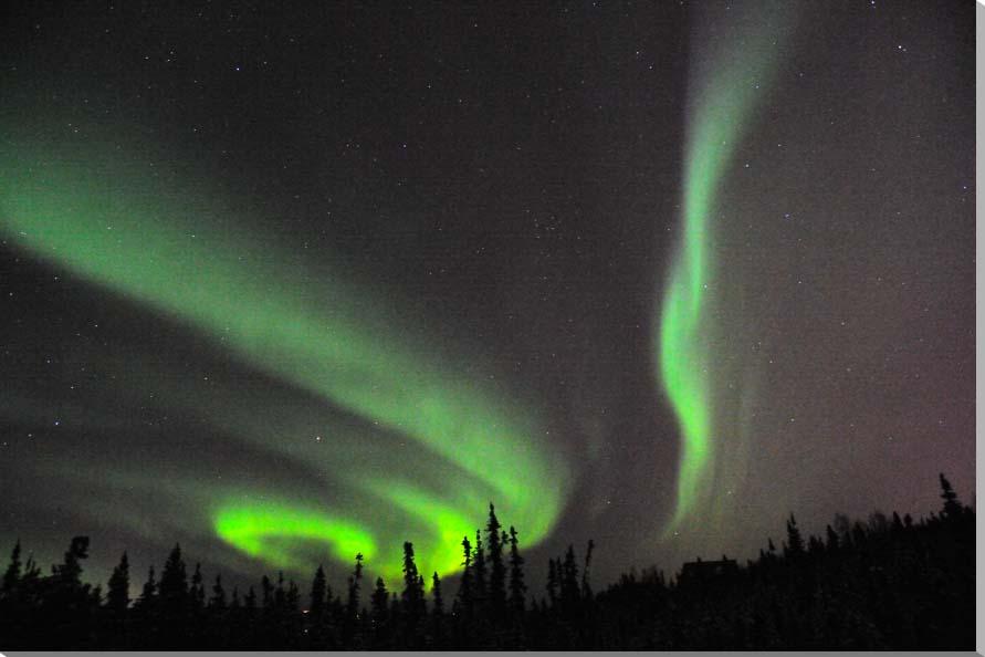オーロラ/アラスカ 風景写真パネル 65.2×45.5cm AUR-11-M15