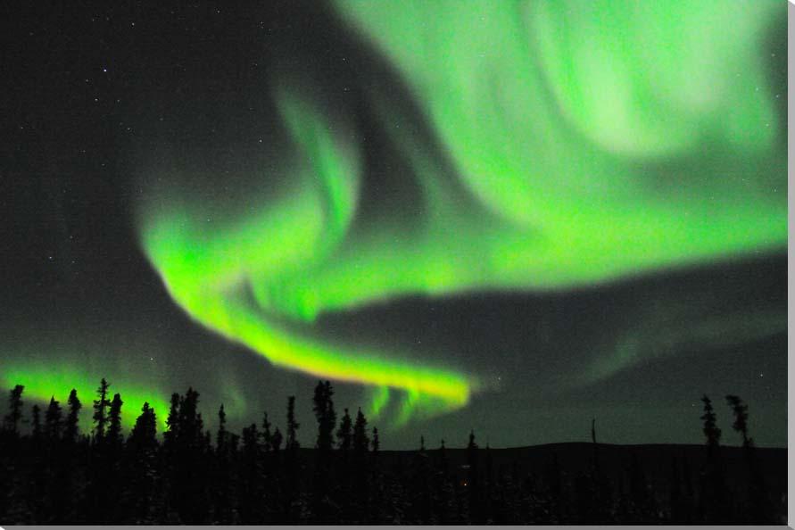 オーロラ/アラスカ 風景写真パネル 72.7×50cm AUR-12-M20