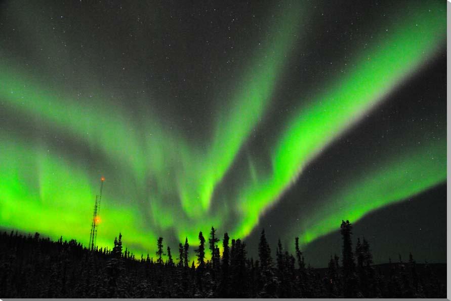 オーロラ/アラスカ 風景写真パネル 72.7×50cm AUR-14-M20