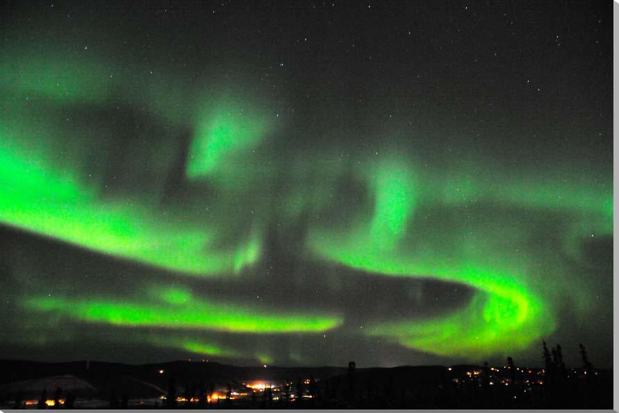 オーロラ/アラスカ 風景写真パネル 80.3×53cm AUR-15-M25