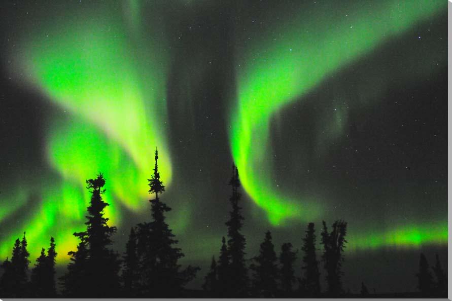 オーロラ/アラスカ 風景写真パネル 80.3×53cm AUR-22-M25