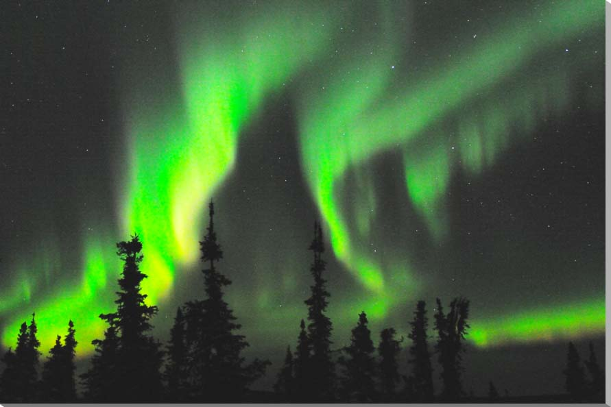 オーロラ/アラスカ 風景写真パネル 65.2×45.5cm AUR-23-M15