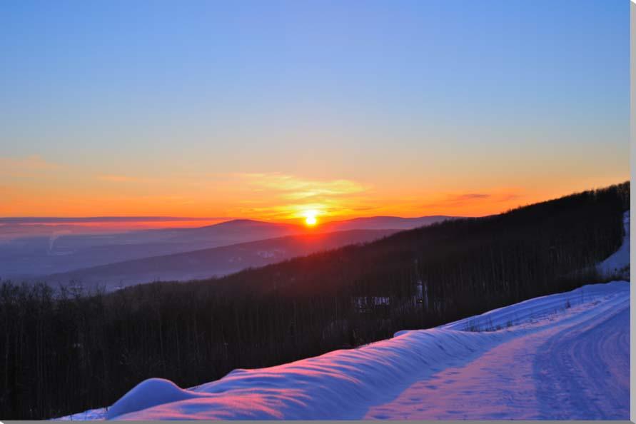 アラスカ・フェアバンクスの夕日 風景写真パネル 80.3×53cm AUR-30-M25