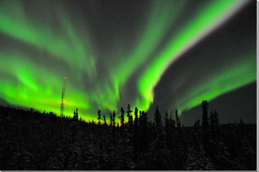 オーロラ/アラスカ 風景写真パネル 80.3×53cm AUR-06-M25