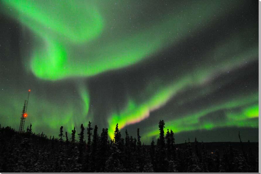 オーロラ/アラスカ 風景写真パネル 65.2×45.5cm AUR-07-M15