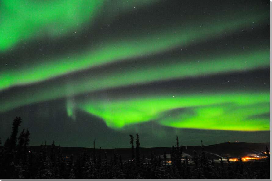 オーロラ/アラスカ 風景写真パネル 72.7×50cm AUR-09-M20