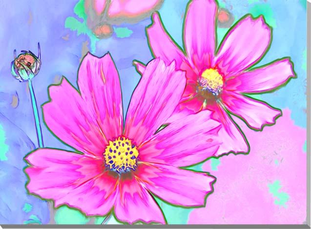 コスモス CG写真パネル 72.7×53cm CG-005-P20 ギフト 贈り物 インテリアアート アートフォト