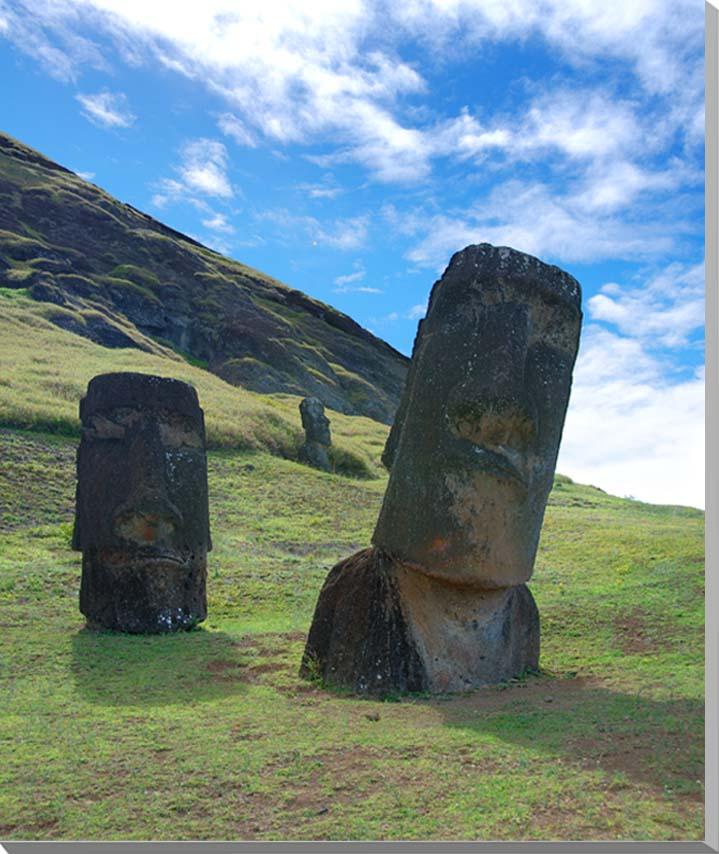 世界遺産イースター島 モアイ 風景写真パネル 65.2×53cm F15  【楽ギフ_名入れ】