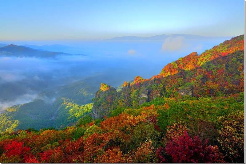 風景写真パネル 霊山の雲海 福島 91×60.6cm 444-m30 アート ポスター 風景,絵画 アート,絵画 壁掛け アート,タペストリー 壁掛け,インテリア アートパネルの壁飾り,お祝いギフトに