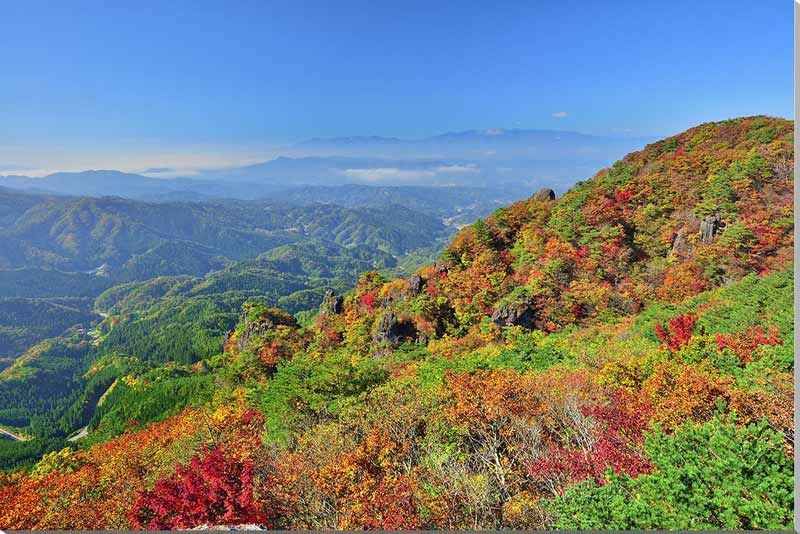 風景写真パネル 紅葉と雲海の霊山 福島 サイズ変更可 80.3×53cm fuk-445-m25 アート ポスター 風景,絵画 アート,絵画 壁掛け アート,タペストリー 壁掛け,インテリア アートパネルの壁飾り,お祝いギフトに