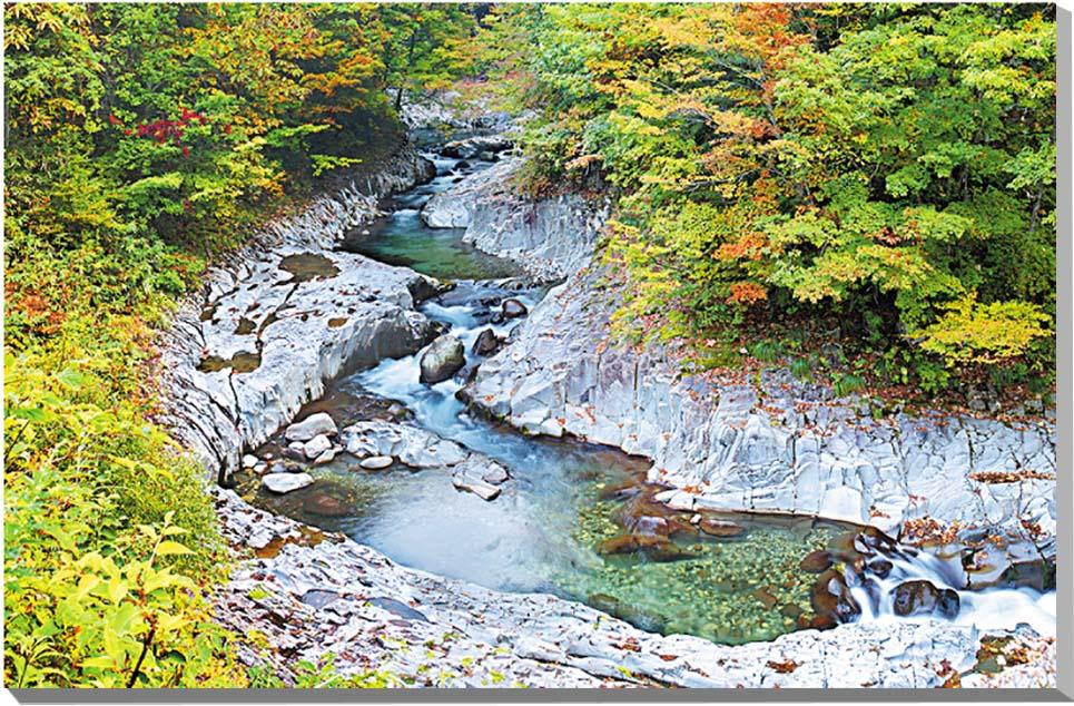 中津川渓谷 福島 風景写真パネル 72.7×50cmFUK-82-M20  【楽ギフ_名入れ】