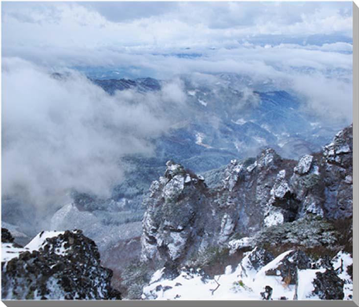 福島/冬の霊山 風景写真パネル65.2×53cm 【楽ギフ_名入れ】