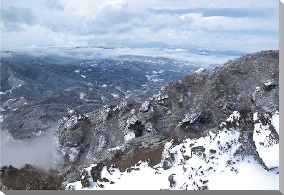 福島/冬の霊山 風景写真パネル65.2×45.5cm 【楽ギフ_名入れ】