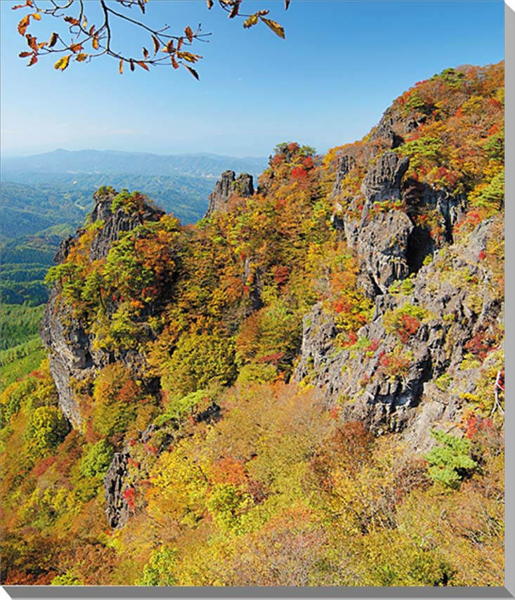 福島/霊山 秋の紅葉 風景写真パネル72.7×60.6cmFUK-047-F20 【楽ギフ_名入れ】