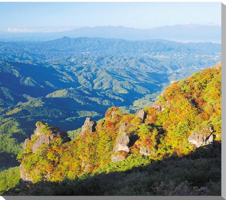 福島/早朝の霊山 秋の紅葉 風景写真パネル 80.3×65.2cmFUK-046-F25  【楽ギフ_名入れ】