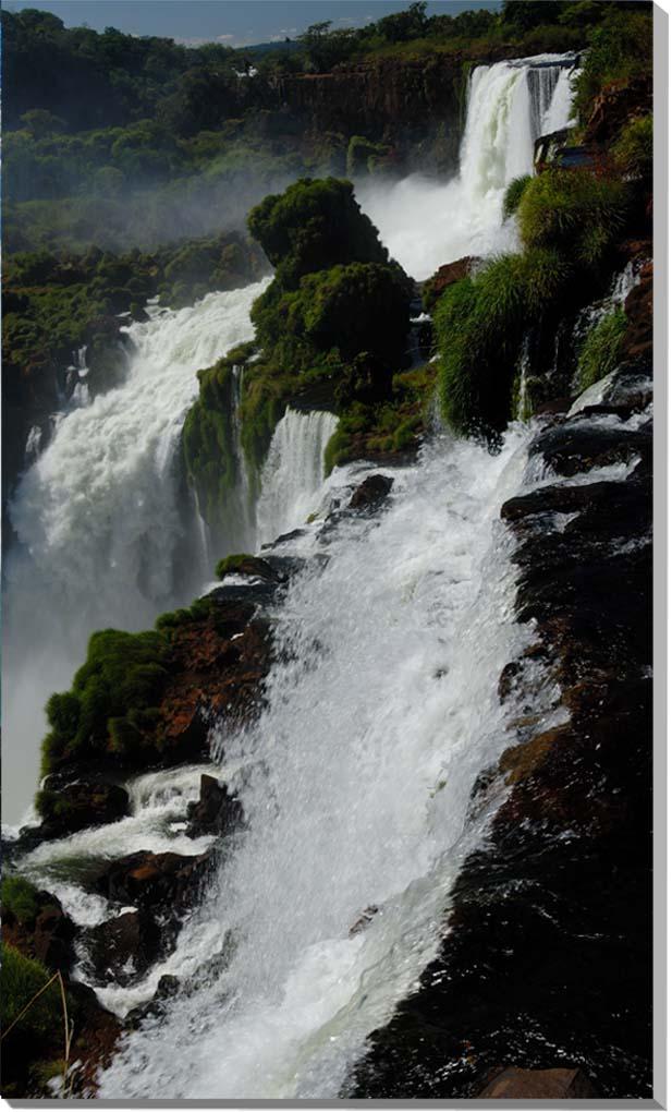 世界遺産 イグアスの滝 風景写真パネル 73×43cm IGA-33-7343【楽ギフ_名入れ】