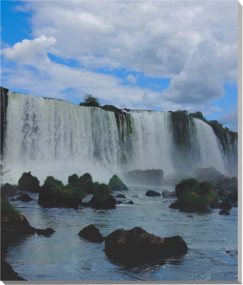 世界遺産 イグアスの滝 風景写真パネル 53×45.5cm IGA-24-F10【楽ギフ_名入れ】