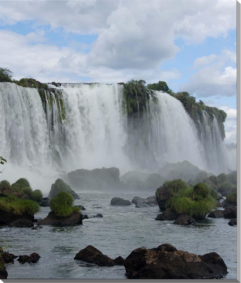 世界遺産 イグアスの滝 風景写真パネル 60.6×50cm IGA-25-F12【楽ギフ_名入れ】