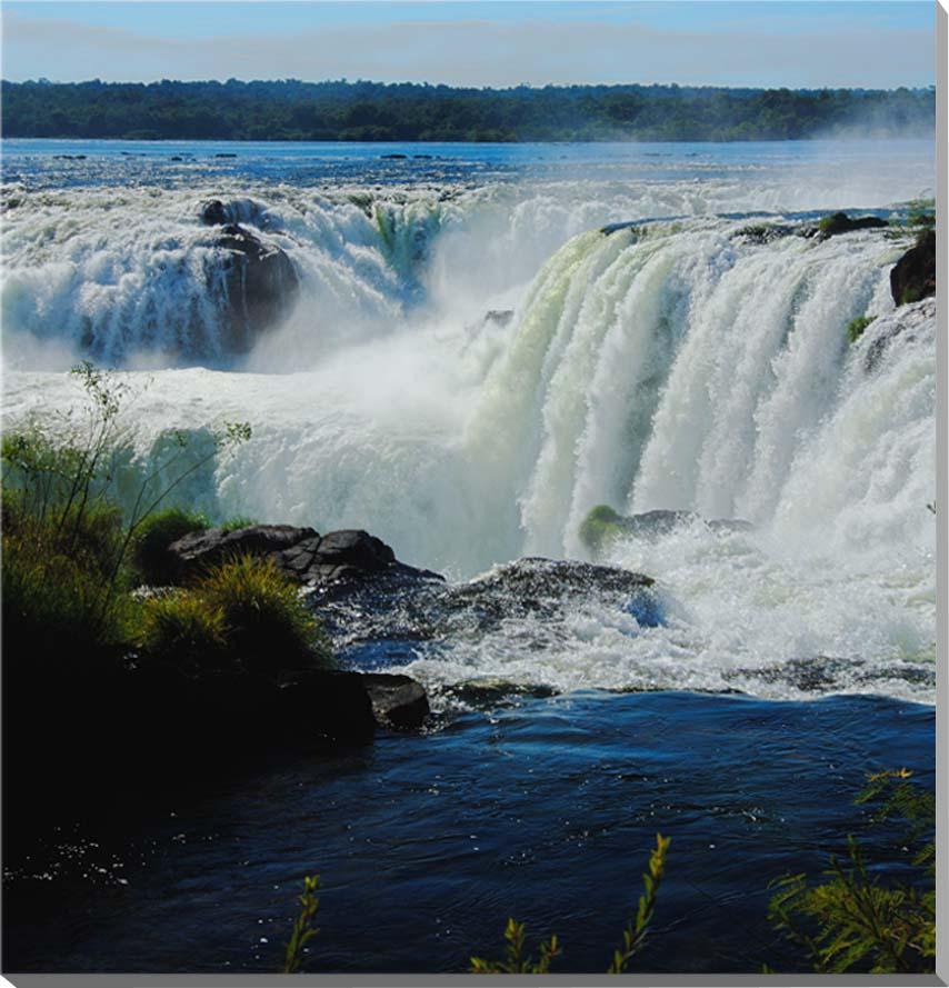 世界遺産 イグアスの滝 風景写真パネル 53×53cm IGA-23-S10【楽ギフ_名入れ】