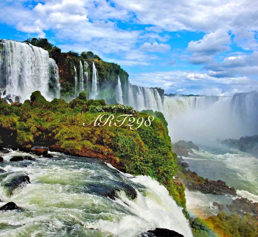 世界遺産 イグアスの滝 風景写真パネル 53×53cm IGA-22-S10【楽ギフ_名入れ】