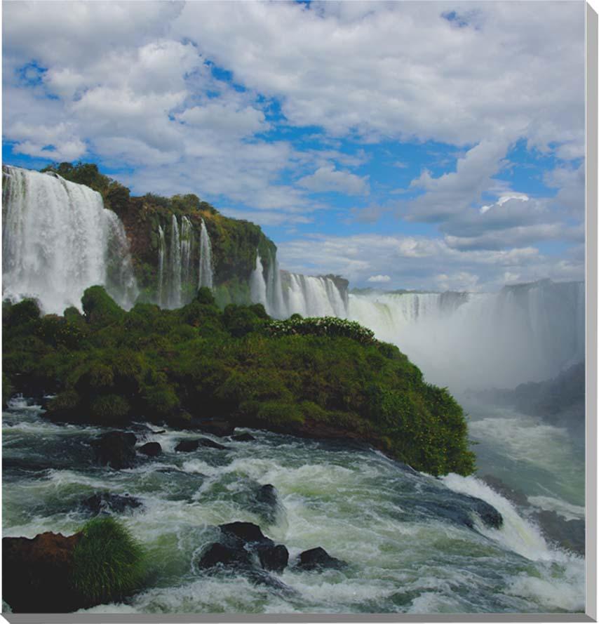 世界遺産 イグアスの滝 風景写真パネル 60.6×60.6cm IGA-29-S12【楽ギフ_名入れ】