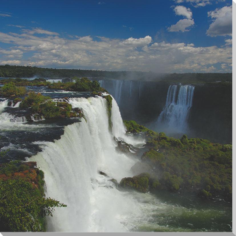 【あすつく】 世界遺産 イグアスの滝 風景写真パネル 60.6×60.6cm IGA-28-S12【】【】【_名入れ】, 花と雑貨リトルガーデン 1057b46d