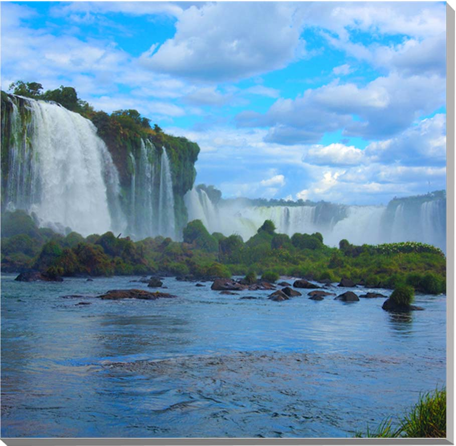 世界遺産 イグアスの滝 風景写真パネル 65.2×65.2cm IGA-30-S15【楽ギフ_名入れ】