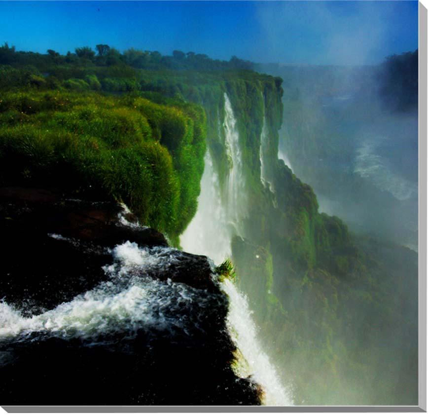 世界遺産 イグアスの滝 風景写真パネル 45.5×45.5cm IGA-21-S8 【楽ギフ_名入れ】