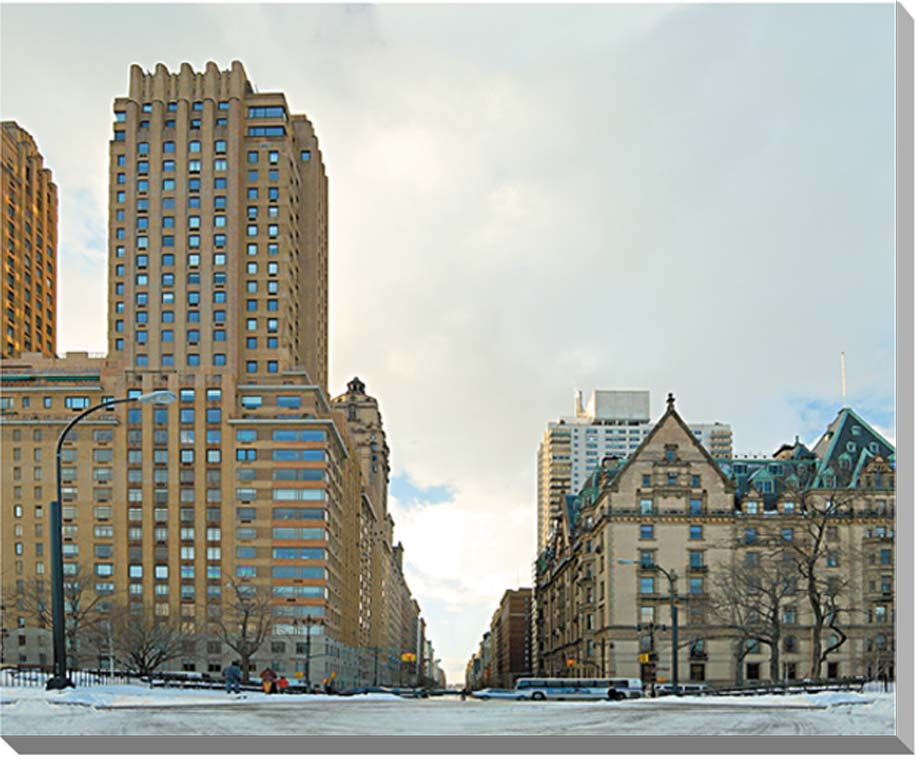 冬のニューヨーク 風景写真パネル 53×45.5cm NEW-04-F10  【楽ギフ_名入れ】