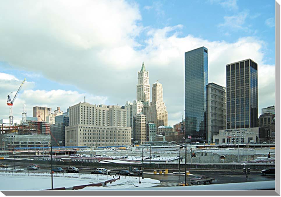 冬のニューヨーク グラウンド・ゼロ 風景写真パネル 53×33.3cm NEW-03-M10  【楽ギフ_名入れ】