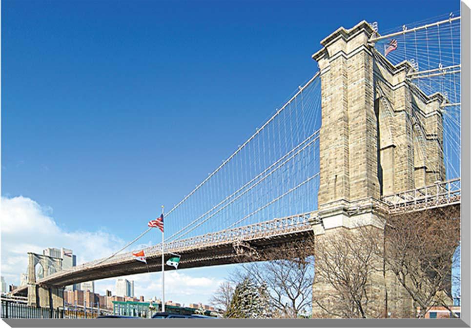 冬のニューヨーク ブルックリン橋 風景写真パネル 53×33.3cm NEW-02-M10  【楽ギフ_名入れ】