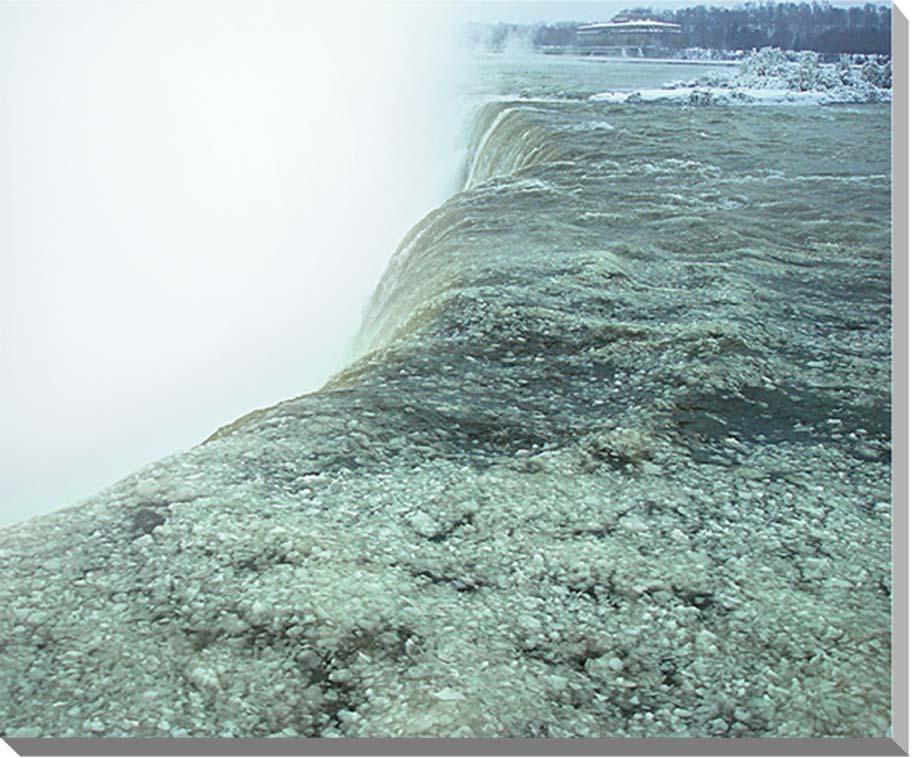 冬のナイアガラの滝 風景写真パネル 65.2×53cm NIA-01-F15  【楽ギフ_名入れ】