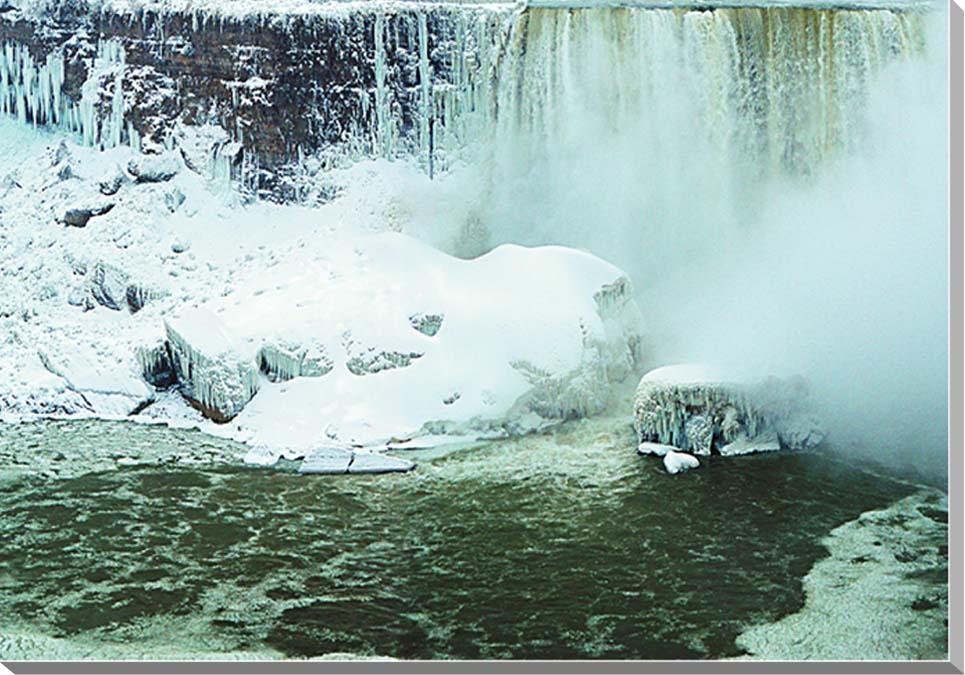 冬のナイアガラの滝 風景写真パネル 60.6×41cm NIA-02-M12  【楽ギフ_名入れ】