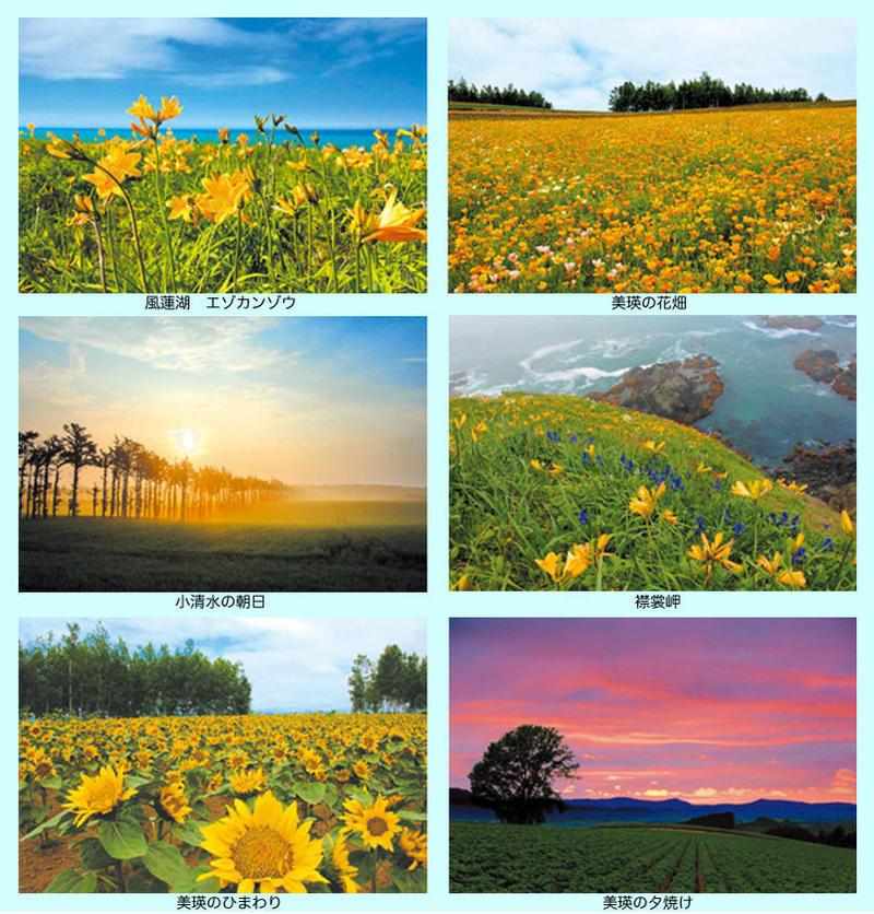 art298: Postcard Hokkaido deals 6 piece set scenery photo postcards ...