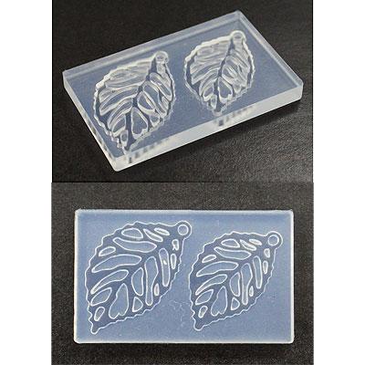 在庫一掃 繊細な模様でも簡単に抜き取る事ができる粘土型 アートクレイオリジナルパーツモールド 期間限定 リーフ