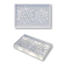入荷予定 繊細な模様でも簡単に抜き取る事ができる粘土型 クリアモールド レーシー 情熱セール 雪の結晶