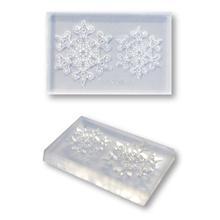 繊細な模様でも簡単に抜き取る事ができる粘土型 クリアモールド 送料無料新品 雪の結晶 本日限定 ゴシック