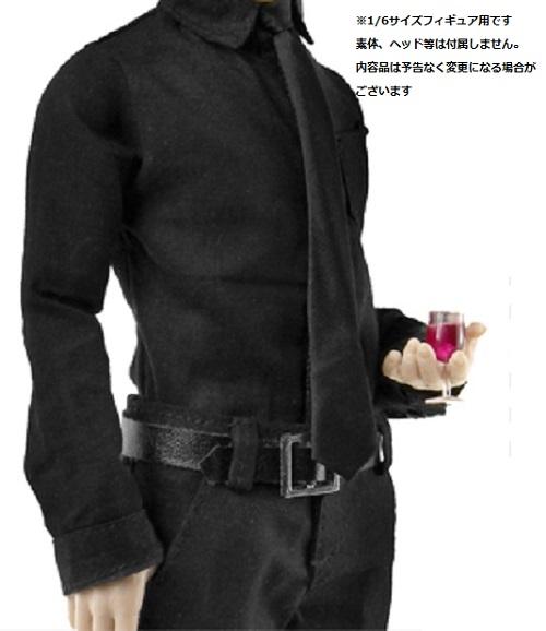 ドールズフィギュア cc194 1/6フィギュア用衣装 ビジネスブラックスーツセット。(DOLLSFIGURE CC194)