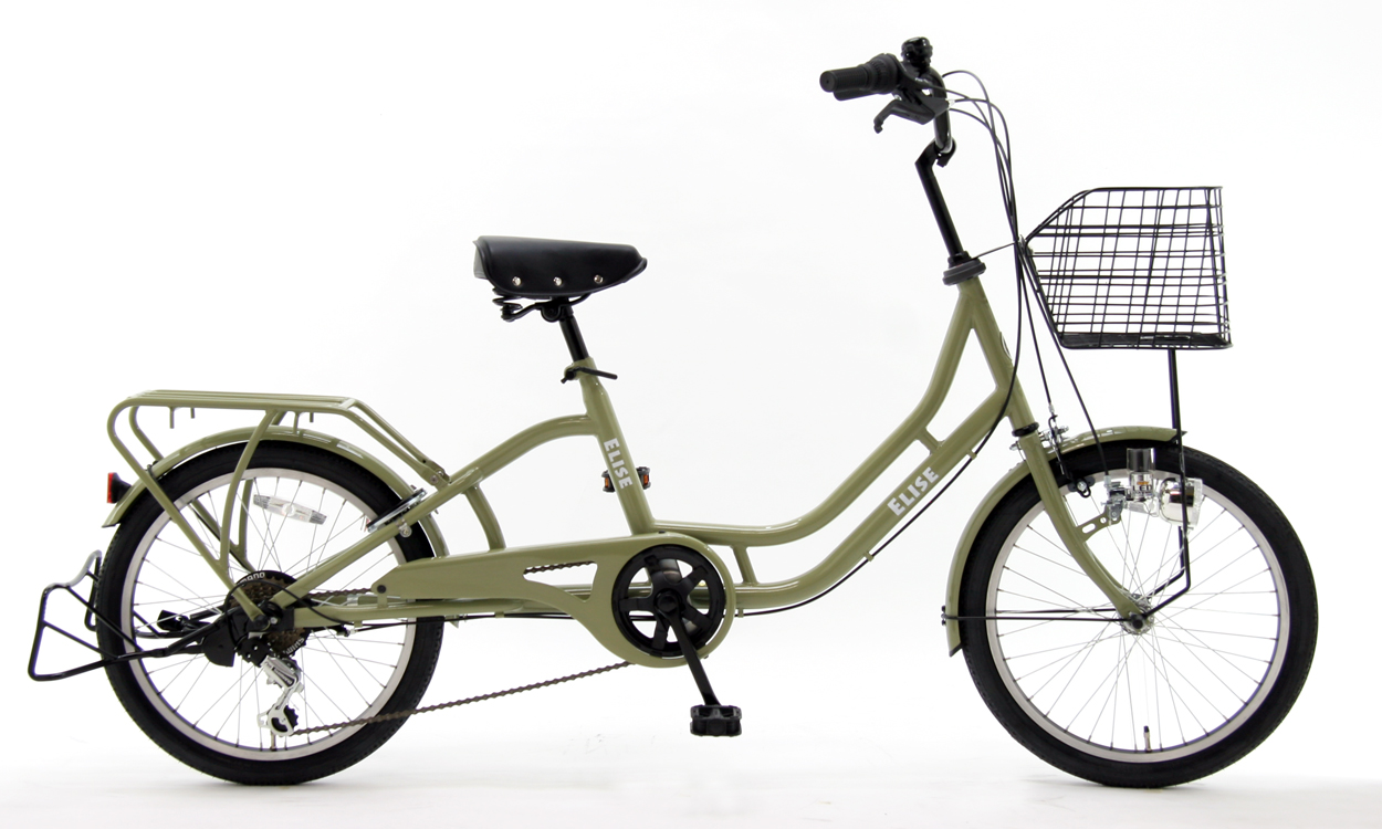 【子供乗せ自転車3人乗り対応】 子供乗せ専用自転車 SOGO 20インチELISE206 ふらつきにくい 前後子供乗せ取り付け可