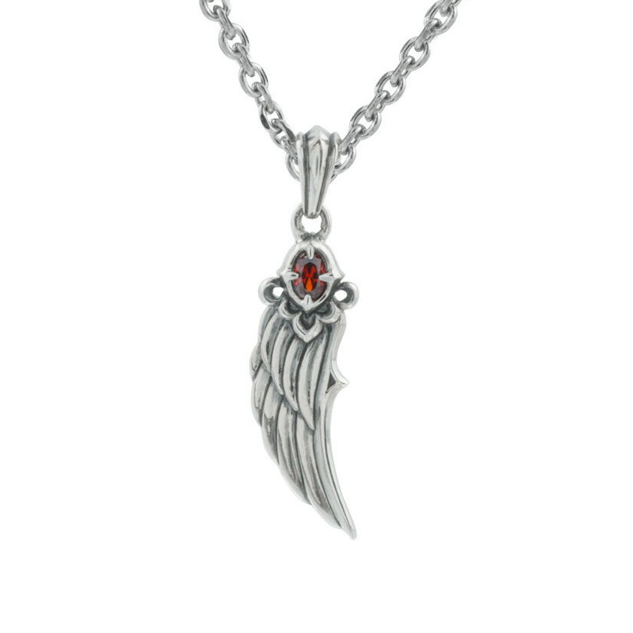 gold white wing pendant angel necklace