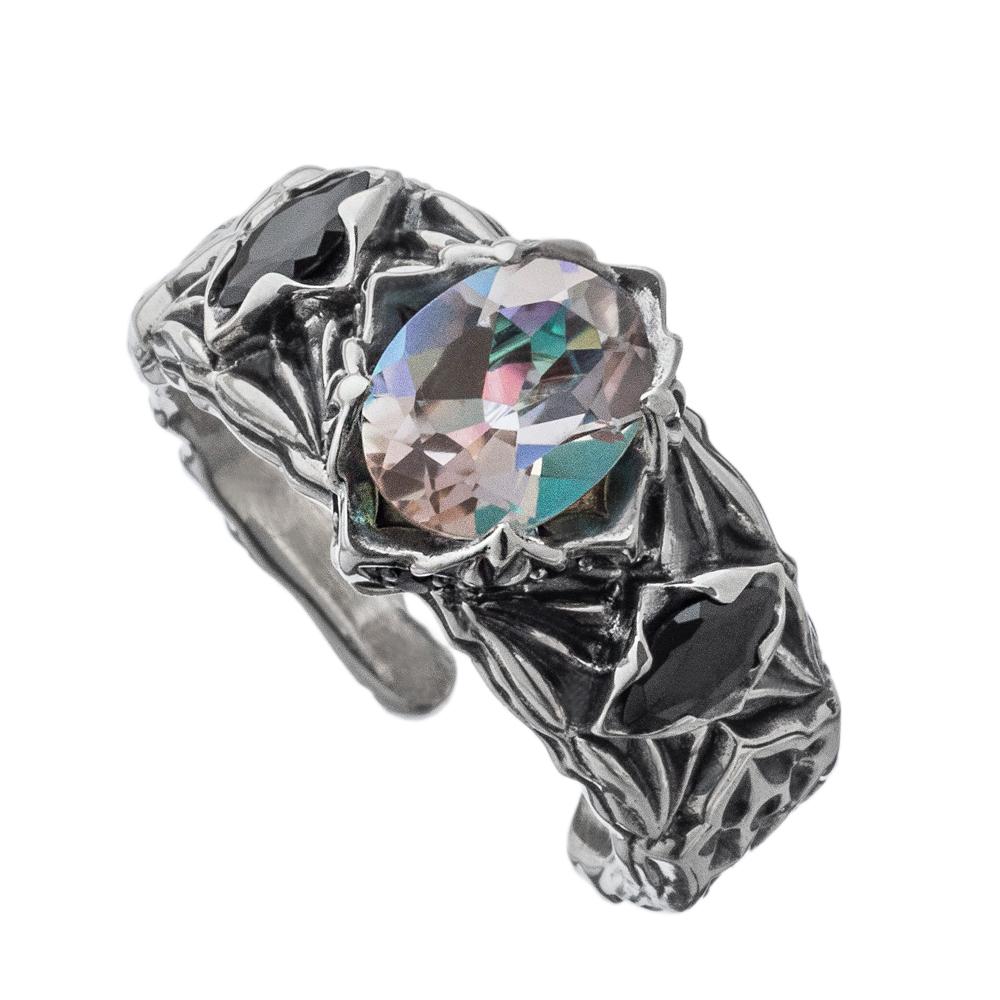 2021AW Collection透き通ったレインボーカラーのミスティック石があしらわれたリング 新作 アルテミスクラシック お得なキャンペーンを実施中 アウトレット☆送料無料 ロンバスミスティックリング白虹 シルバーリング ACR0290 ArtemisClassic