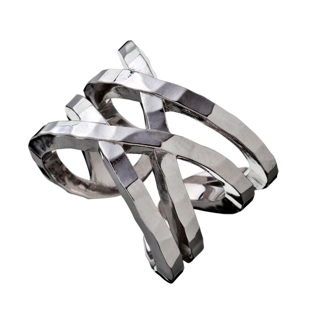 指輪 Elenore メンズ 男性 彼女 シルバーリング 4連 リング 彼氏 かわいい 2way Jewelry×ARTEMISKINGS 女性 シンプル プレゼント ラップリング ダブルクロス 誕生日 ギフト ペア エレノアジュエリー×アルテミスキングス ブランド かっこいい AKELR0004 レディース