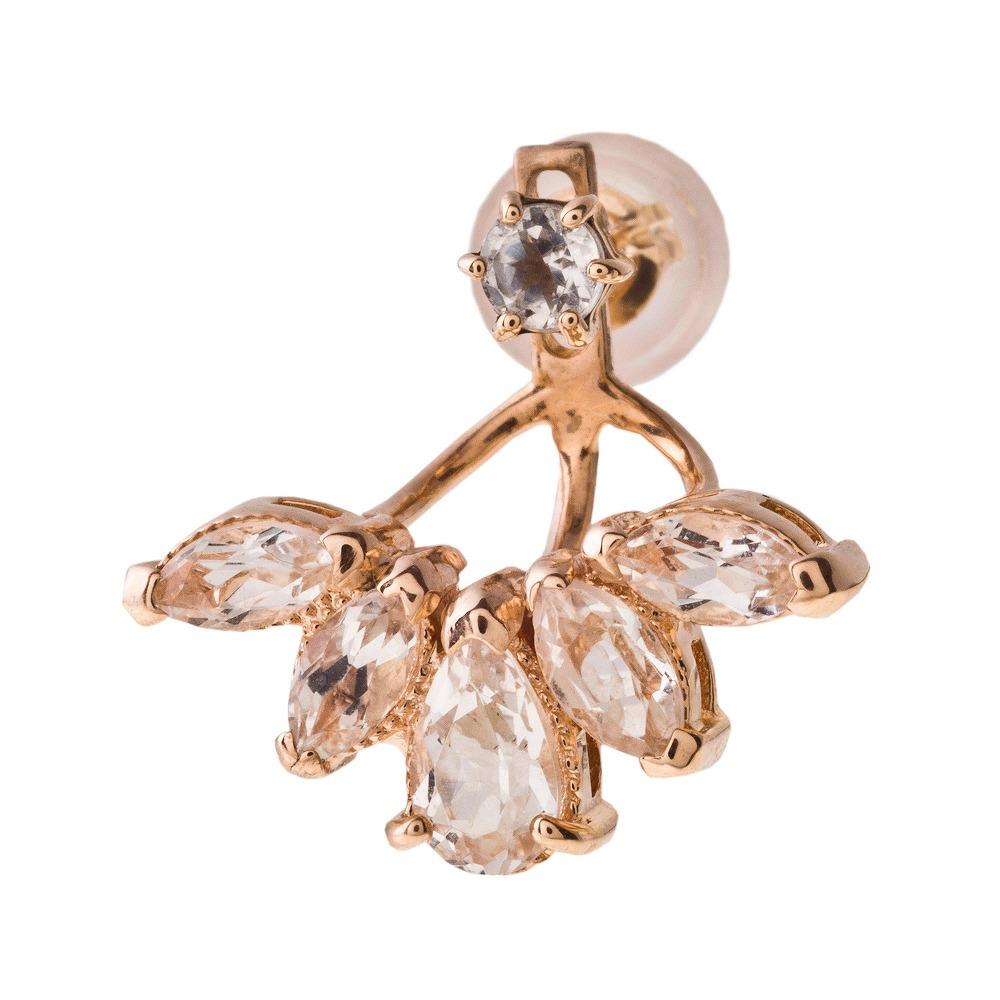 特別価格 エレノアジュエリー Elenore Jewelry 10金ブルームトパーズイヤージャケット 片耳分 ゴールドピアス K10 10K ELE0007