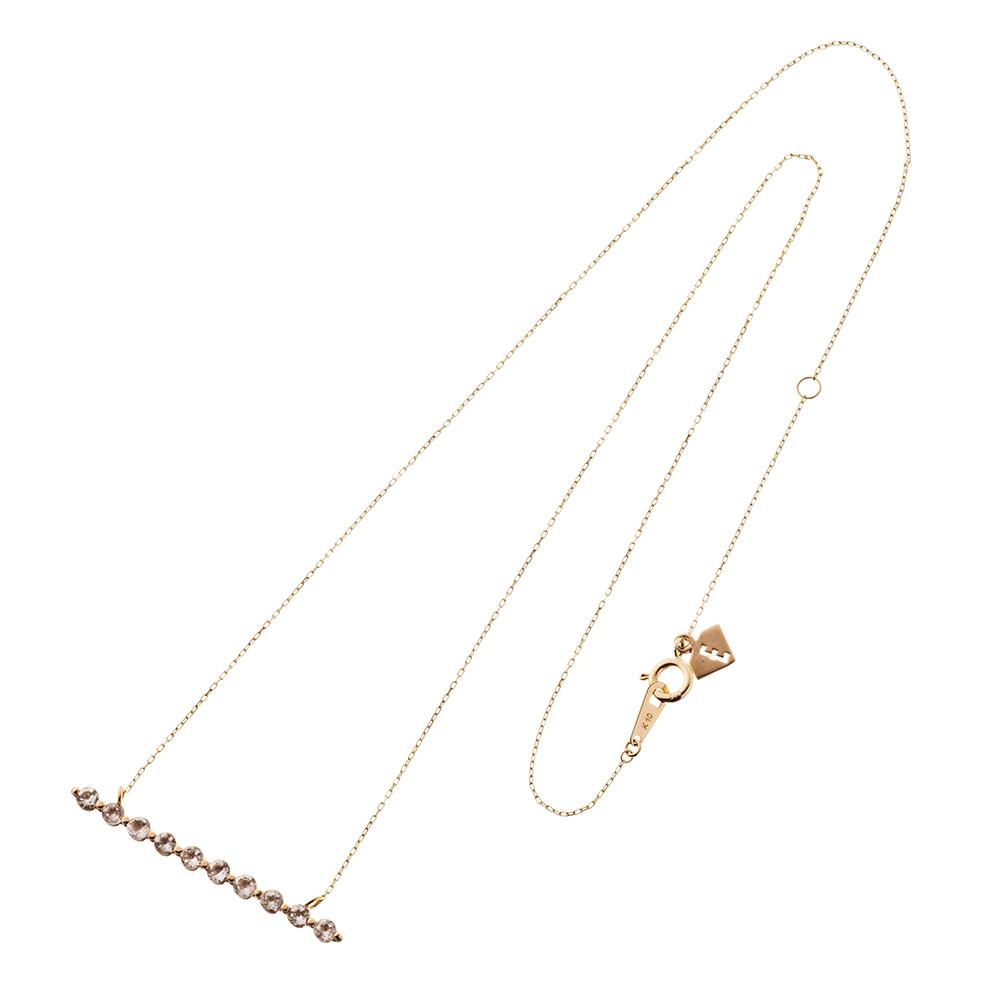 特別価格 エレノアジュエリー Elenore Jewelry 10金ホライゾンネックレス ゴールドネックレス K10 10K ELP0001